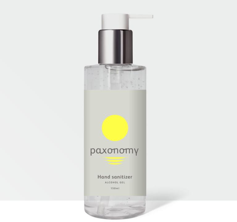 Paxonomy hand sanitiser bottle
